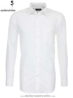 Seidensticker White Shirt - Classic Splendesto Pure Cotton - Available to buy online http://www.afarleycountryattire.co.uk/product-category/shirts/seidensticker-black-rose-slim-fit-shirts/ #Splendesto #seidenstickershirts  #mensfashion #afarleycountryattire