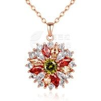 Barbara丨Luxury Fashion 18K Gold Plated Colorized AAA Cubic Zircon Pendants Necklaces