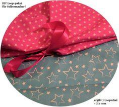 Stoffpaket♥Loop♥ DIY Sterne türkis/pink  von ஐღKreawusel-aufgehübscht✂ஐ  auf DaWanda.com
