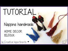 Tutorial - Come fare Nappine Handmade - DIY Handmade Tassel - Per decorazione o gioielli - YouTube