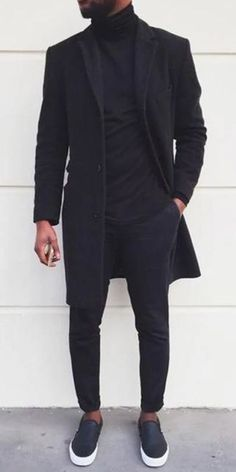 Black Men Coat Winter Business leisure street shooting and casual coats for men, plus size and soild colors you will Winter Outfits Men, Stylish Mens Outfits, Mens Casual Coats, Style For Men Casual, Winter Clothes For Men, Casual Outfits, Winter Wear For Men, Cool Outfits For Men, Work Casual