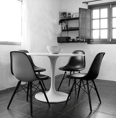 Herman Miller Eames DSR And Knoll Saarinen Tulip Table Bought - Herman miller tulip table