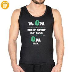 Herren Tank Top mit witzigen Opa-Motiven - Wo Opa drau steht ist auch Opa drin - Geschenk für Vatertag - Geburtstag (*Partner-Link)