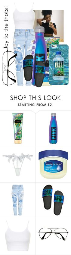 """""""not having it//Nicole"""" by th3-qu33n-25 on Polyvore featuring Victoria's Secret, Myla, Vaseline, xO Design, Topshop and ZeroUV"""