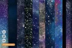 Celestial Galaxy Backgrounds, Stars