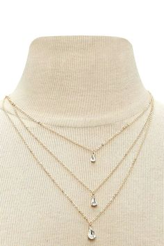 Product Name:Teardrop Layered Necklace, Category:ACC, Price:6.9