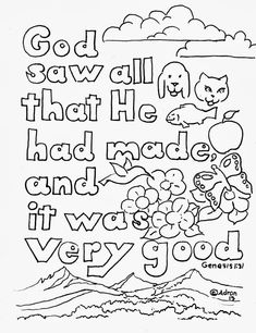 Creation Coloring Pages ⋆ coloring.rocks!