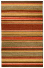 spice and olive striped rug. natural grass rugs, sustainable fibers. designer casual rugs. DesignNashville.com transitional rug