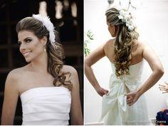 melhor penteado noiva rosto oval cabelo escuro comprido - Pesquisa Google