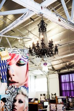 how can you not be inspired by this chandelier at work?  refinery29.com - Urban Decay