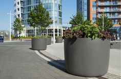 Gunwharf Quays, Portsmouth – Street and Tree Planters, High Performance Composite Planters for Shopping Centres, Streetscapes and Public Realm