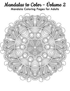 relax by coloring this free mandala from mandalas to color mandala coloring pages for adults - Pictures That You Can Color