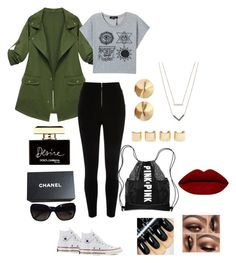 """""""HANDS TO MYSELF"""" by desiner on Polyvore featuring River Island, Converse, Eddie Borgo, Luv Aj, Michael Kors, Victoria's Secret, Chanel, Dolce&Gabbana, women's clothing and women"""