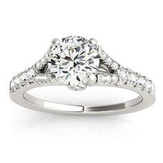 Transcendent Brilliance 14k Gold 1 2/5ct TDW White Diamond Graduated Split Shank Engagement Ring (F-G, VS1-VS2) (