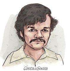 "Caricatura de Wagner Moura como Pablo Escobar, de ""Narcos"". #caricature #portrait"