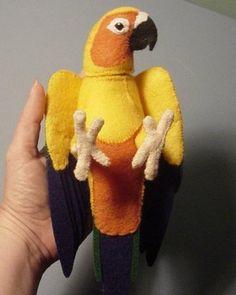 Мягкая игрушка попугай. Выкройка