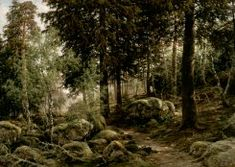 by Berndt Adolf Lindholm Forest Scenery, Forest Theme, Landscape Art, Landscape Paintings, Landscapes, Wooded Landscaping, National Gallery, Agra, Finland