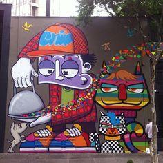 Work by @chivitz e @minhau_sp • Sao Paulo , Brasil - @instagrafite- #webstagram: