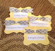 Omega Phi Alpha - Rho Chapter's name badges. How cuuuuute!