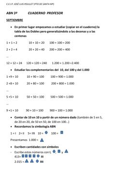 ALGORITMOS ABN. Por unas matemáticas sencillas, naturales y divertidas.: Cuaderno de 3º de la Profesora.