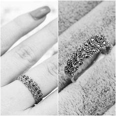 Blake - Sterling Silver & Marcasite Leaf Ring