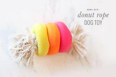 Semi-DIY Donut Rope Dog Toy - Pretty Fluffy | Pretty Fluffy