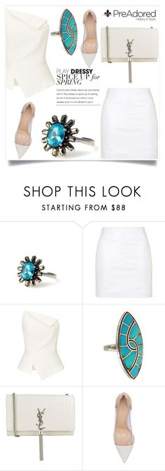 """""""Pre Adored 23/III"""" by amra-mak ❤ liked on Polyvore featuring Topshop, Roland Mouret, Yves Saint Laurent, Gianvito Rossi and PreAdored"""