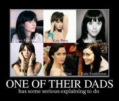 Zoey Deschanel, Katy Perry, Mia Krishner, Emily Blunt <3 #funnypics #funnyimages #demotivationalposters