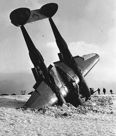 A downed American P38 lightning.