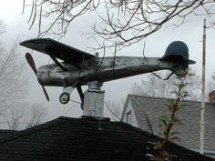 great vintage airplane weather vane