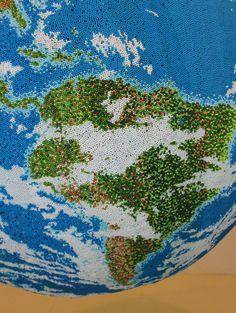 Globe Sculpture from Painted Matchsticks - JOQUZ