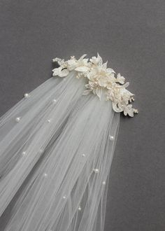 Bespoke for Sarah_lace wedding headpiece with pearls 4 # Weddings veils Layers of Lace Headpiece Wedding, Wedding Veils, Lace Weddings, Bridal Headpieces, Bridal Hair, Wedding Garters, Wedding Lace, Wedding Shoes, Wedding Decor