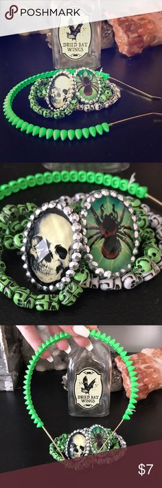 Halloween accessories bundle! Spike headband is from Nordstrom and is very well made. The rings and bracelets are all plastic and cute. Accessories