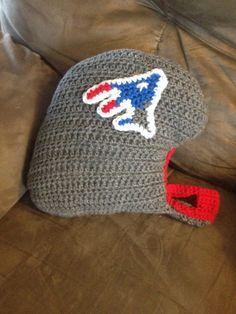 Crochet football helmet