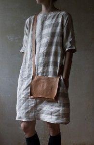Marlen Karema linen tunic - neutral contrasting stripes