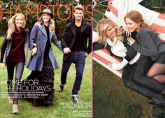 Christie Brinkley and her children Jack and Sailor in Hamptons magazine cover shoot.