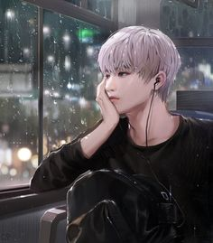 This looks like NCT Taeyong but idk Kpop Anime, Anime Korea, Korean Anime, Korean Art, Manga Anime, Bts Art, Ken Tokyo Ghoul, K Wallpaper, Anime Kunst