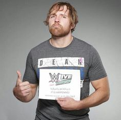 Dean Ambrose Wwe Dean Ambrose, Wrestling Stars, Wwe Tna, Favorite Person, Gorgeous Men, Shit Happens, Rocks, Asylum, Closer