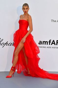 e2c987aa78ce Celebrity and Model Dresses from the 2018 amfAR Cannes Gala - Red Carpet  Looks at Cannes 2018