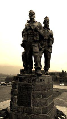 commando monument. spean bridge. scotland