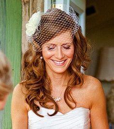 wedding fascinator for long hair - Google Search