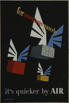 it's quicker by air: via british postal museum and archive