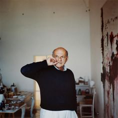 Cy Twombly at home