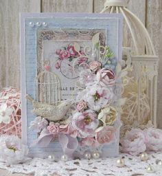 В творческом полёте: Весенние открытки! Птичка и цветы (пионы).