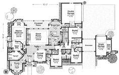 First Floor Plan of European   House Plan 66125