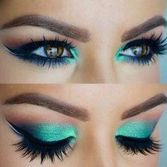 Resultado de imagen para maquillajes color verde menta