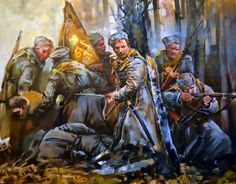 Last stand of the Russian White Army during the Civil War
