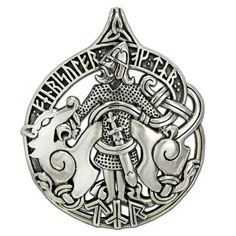TYR Warrior Pendant .925 Sterling Silver - NORSE God JUSTICE Rune Fenris WOLF Dryad Design