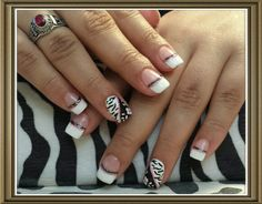 Flowers... black, white and pink