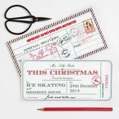 Personalised Christmas Ticket